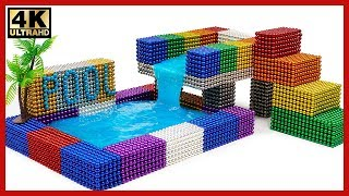 how To Make Two Floors Swimming Pool Form Brick mini - Miniature model & Slime | Bricklaying World
