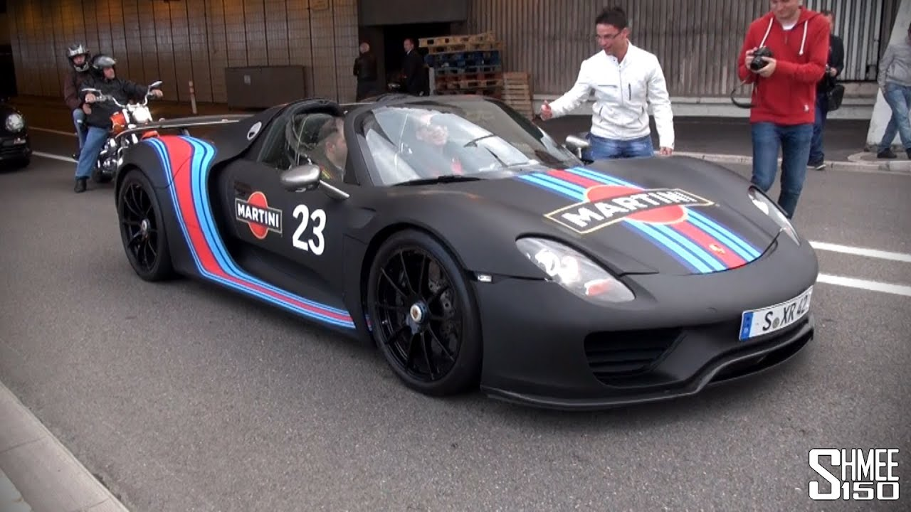 Porsche 918 Spyder Martini Track Pack  Startup And