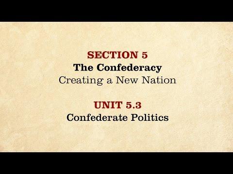 MOOC | Confederate Politics | The Civil War and Reconstruction, 1861-1865 | 2.5.3