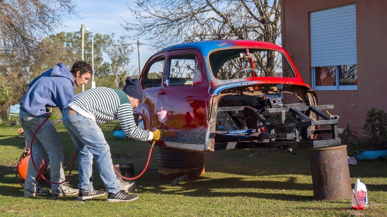 PINTAMOS EL FIAT 600 - NUEVO MÉTODO DE PINTURA CON DEGRADES ❤  - Radialero Team