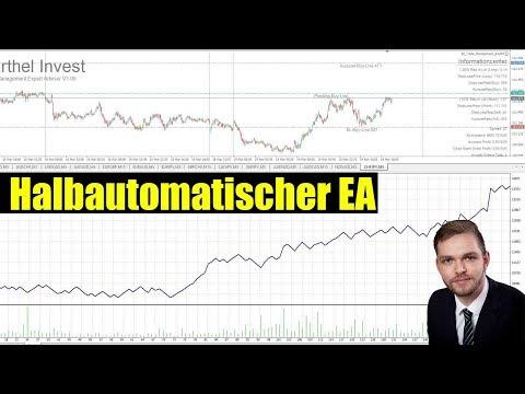 So sieht der Halbautomatische Trading EA aus - Meta Trader 4 Position eröffnen