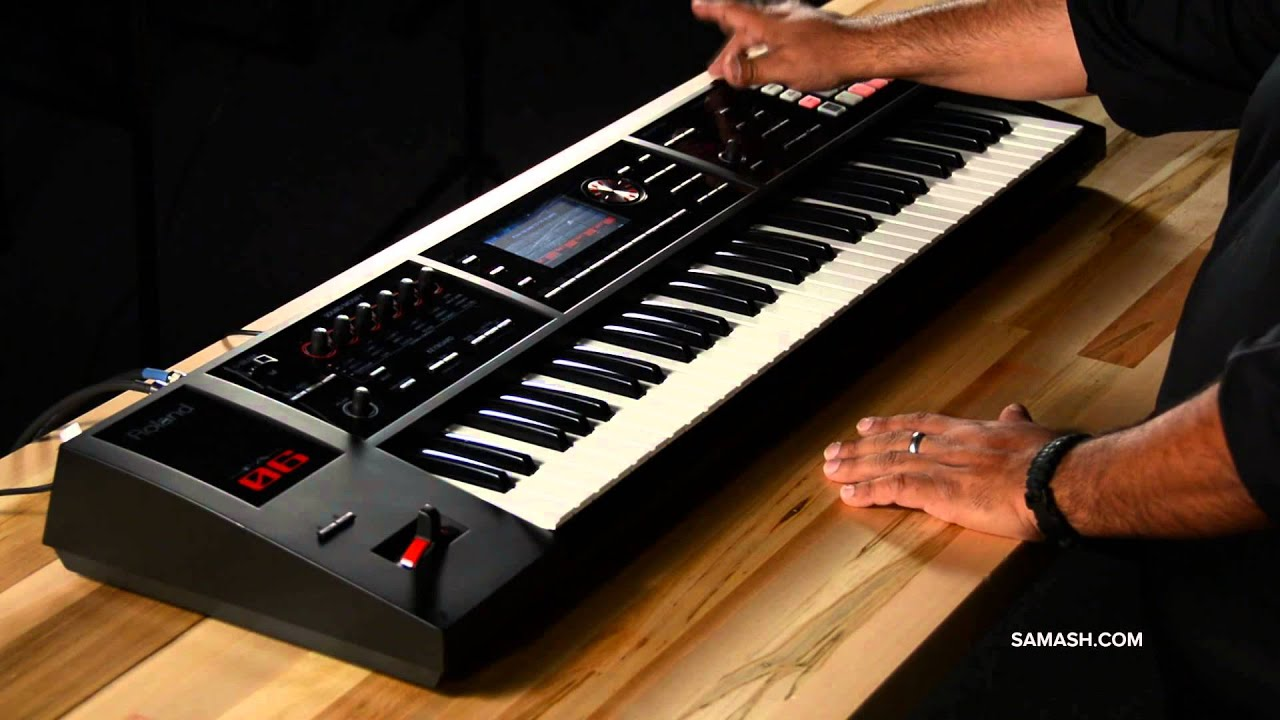 roland fa 06 music workstation sampler overview youtube