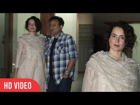 Kangana Ranaut (Manikarnika The Queen of Jhansi) Spotted In Juhu
