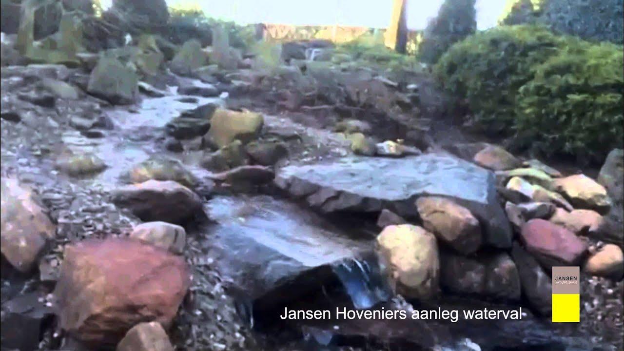 Waterval aanleggen in tuin jansen hoveniers youtube for Waterval vijver aanleggen
