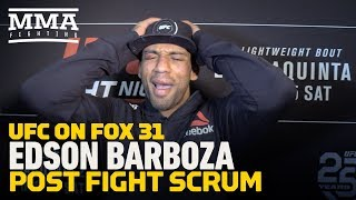 UFC on FOX 31: Edson Barboza On Dan Hooker KO: 'It's Part Of The Job'