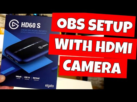 How To Setup Lumix G7 For OBS Streaming With Elgato HD60S