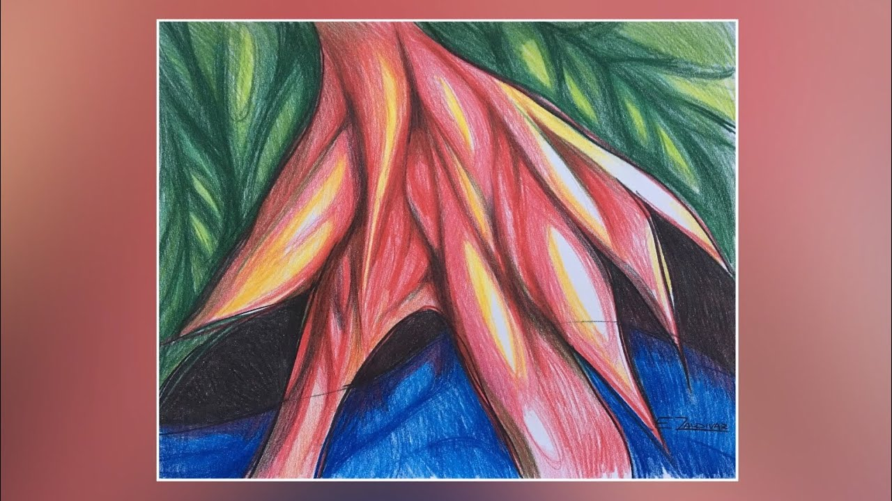 Dibujo Con Lápices De Colores Dibujo Abstracto Creativo Como