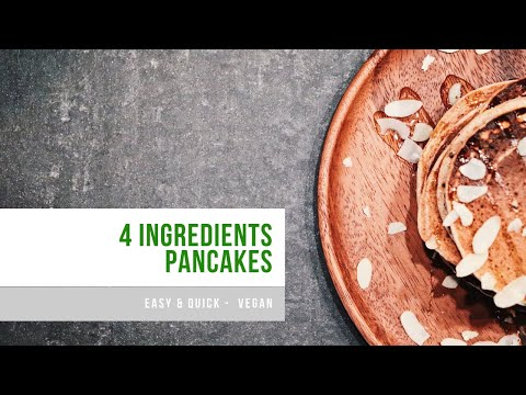 petit-budget-|-pancakes-en-4-ingredients-|-rapide-&-facile-|-vegan
