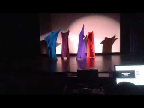 Talent show color blob dance, Melrose High School