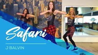 Safari - J Balvin - Watch on computer/laptop Easy Fitness Dance Choreography Zumba