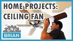 Home Projects: Ceiling Fan install with no existing wiring