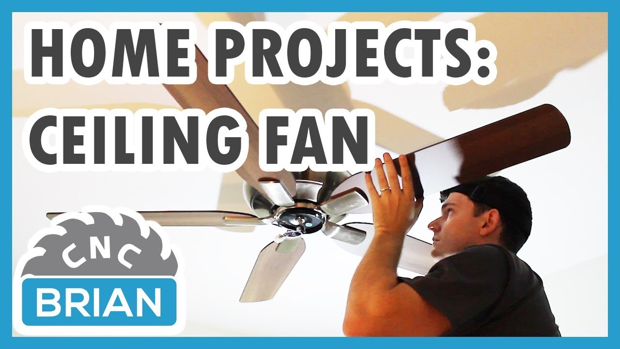 Home Projects Ceiling Fan Install With No Existing Wiring You