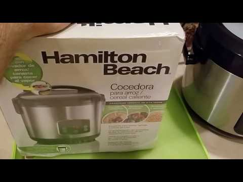 My NEW Hamilton Beach Brands 14-Cup Rice Cooker / Steamer!!!
