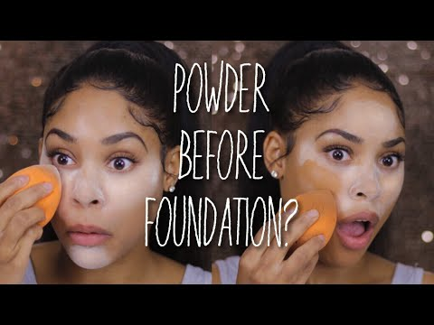APPLYING POWDER BEFORE FOUNDATION! | HACK OR WACK?