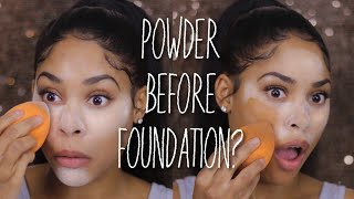 APPLYING POWDER BEFORE FOUNDATION! | HACK OR WACK? thumbnail