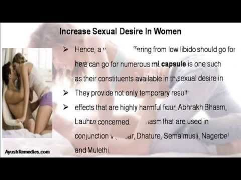 Women increase sexual libido