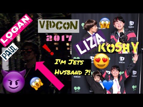 Meeting LIZA KOSHY / JET & LOGAN PAUL at Vidcon 2017 day 3 !