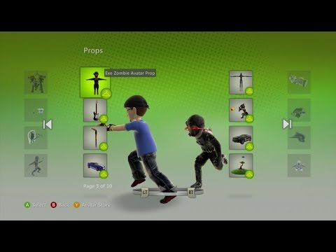 Xbox Live Free Avatar Prop Exo Suit Zombie Hoverbike