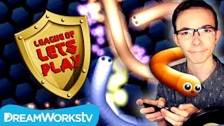 Slither.io GIANT SNAKE with FinsGames | LEAGUE OF LET'S PLAY