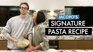 Jacopo&#39s Signature Pasta Recipe  Spaghetti w Zucchini  Everyday Pasta Recipe  Cooking With Aimee