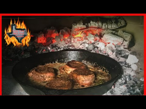 Wood Fired Oven Filet Mignons | Pan Seared Steak Cast Iron | Wood Fired Pizza Oven Cooking