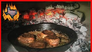 Wood Fired Oven Filet Mignons | Pan Seared Steak Cast iron
