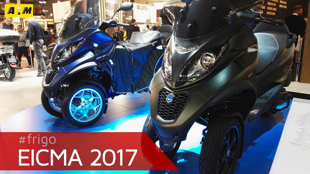 eicma 2017 piaggio mp3 350 e 500 2018 youtube. Black Bedroom Furniture Sets. Home Design Ideas