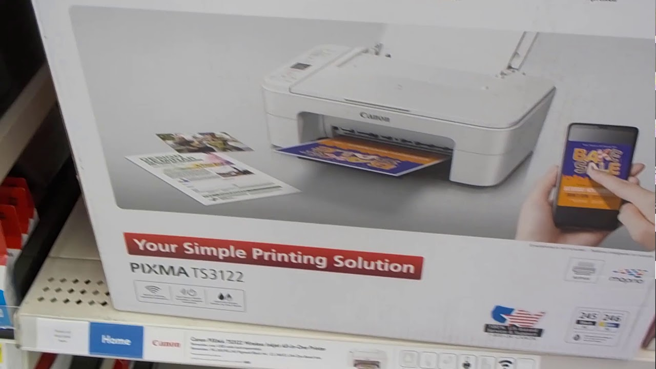 NEW Canon Pixma TS3122 Wireless Inkjet All-In-One Printer PRINTER ONLY Copier