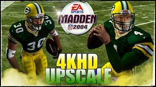 Madden NFL 2004 4KHD in 2018 🏉 This game had Some Solid Gameplay Giants vs. Packers!!!