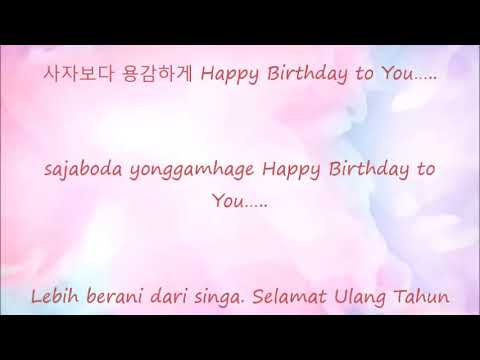 Happy Birthday Korean Versi ( Saengilchughahamnida)