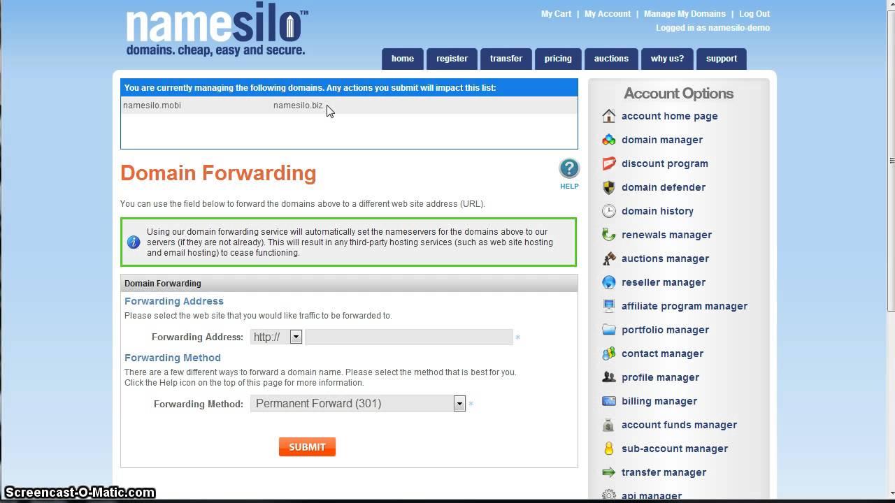 Domain Forwarding