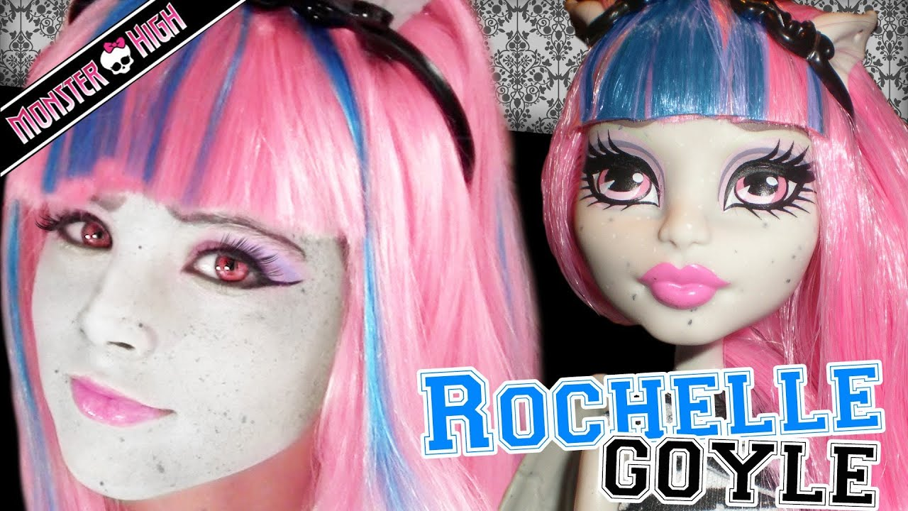 Uncategorized Monster High Paint Colors rochelle goyle monster high doll costume makeup tutorial for cosplay or halloween youtube