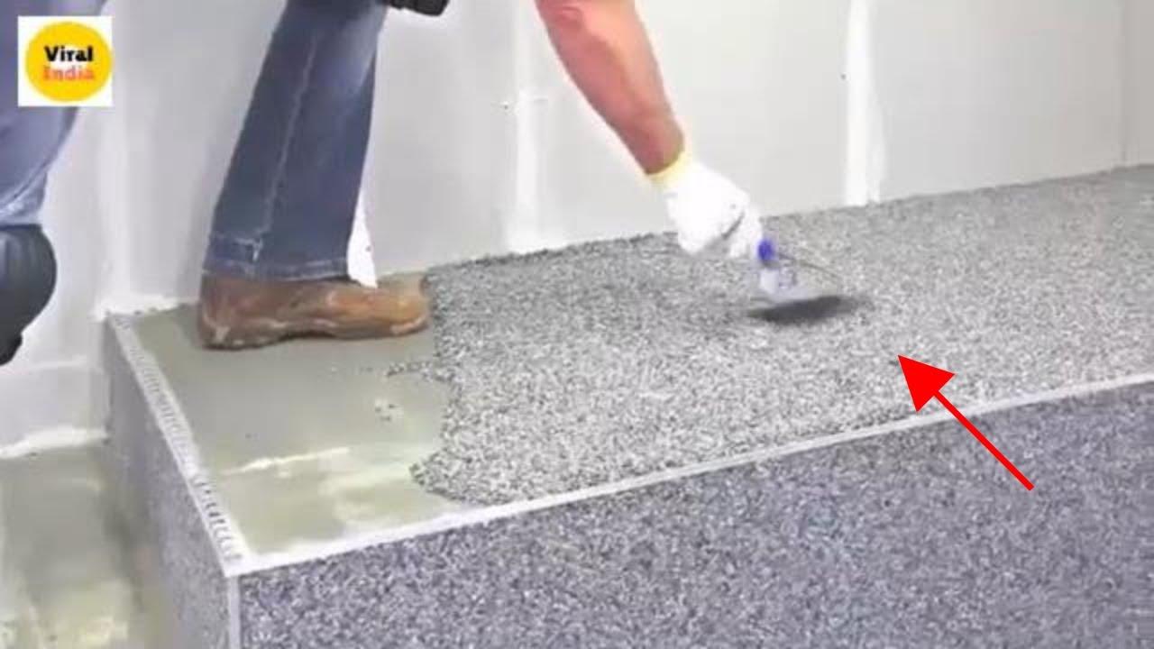 Modern Stairs Tiles Design Decorative Concrete Melbourne Flake Flooring