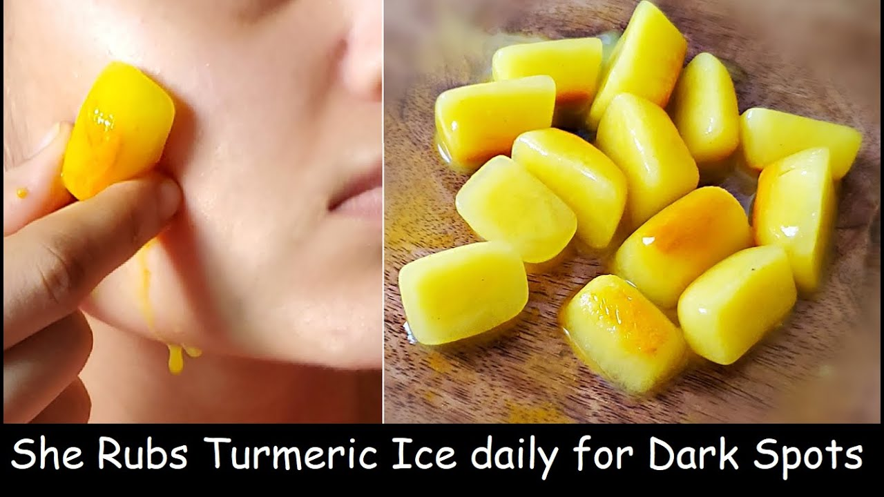 i Rub Turmeric IceCube on Face Every Night & Removed Dark Spots, Clear Skin | Skin Whitening IceCube