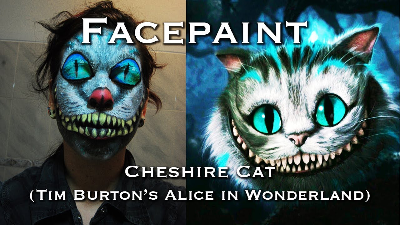 Alice In Wonderland Cheshire Cat Face Paint