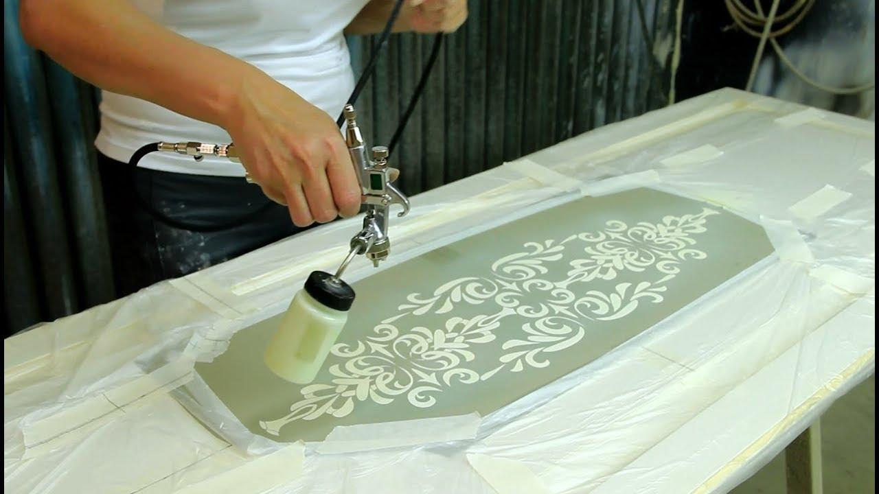 Роспись мебели своими руками с трафаретом