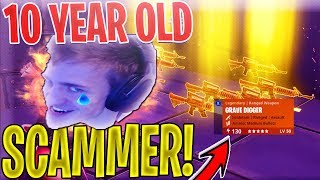 10 YEAR OLD DUMB Scammer SCAMS Himself *SCAMMER GETS SCAMMED* In Fortnite Save The World EP 2