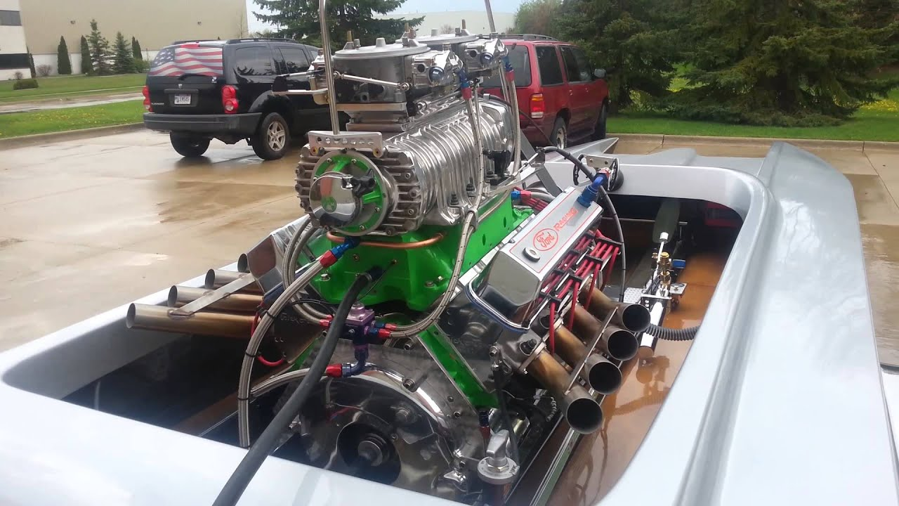 1500 hp blown ford drag boat the green monster youtube for Green boat and motor