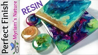 58] RESIN : Getting a DOMED flawless FINISH on Pieces from a MOLD or taped Fluid art