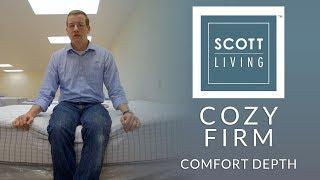 Restonic Scott Living Cozy Firm Mattress Comfort Depth 1