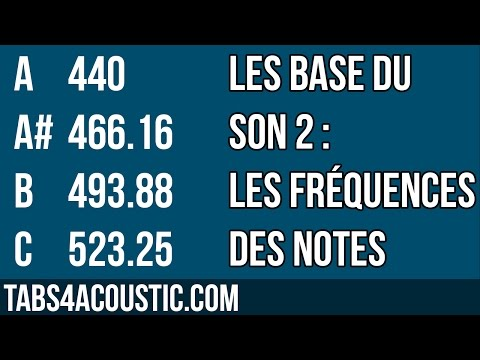 Les bases du son 2 : les fréquences des notes