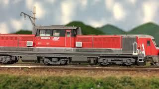 Nゲージ N天 DD51 EF64の関西線貨物列車 !
