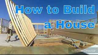 How to frame a house. Rough carpentry. Time lapse. Part 1 of 2