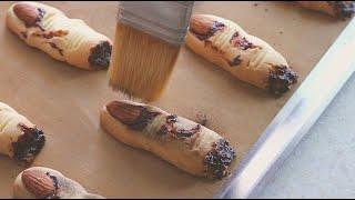 [Halloween Baking]좀비손가락쿠키/Zombie Finger Cookies/마녀손가락쿠키/Witch Finger Cookies