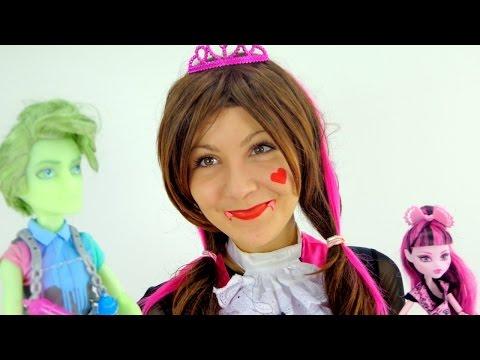 Видео для девочек.  Дракулаура и Портер Гейс. Куклы Monster High