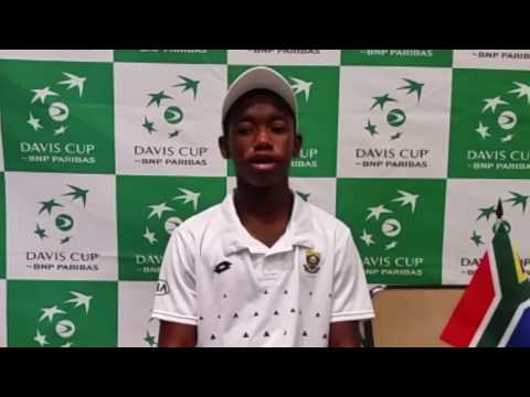 South Africa's tennis prodigy, Sipho Montsi talks to Trevor Cramer