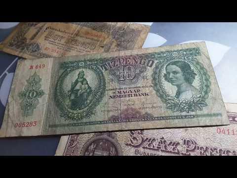 Hungarian Pengo banknotes