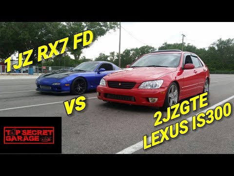 1JZ RX7 FD VS IS300 2JZGTE VVTI ARISTO SWAP