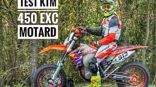 Test KTM 450 EXC MOTARD - MOTO PAZZESCA!!