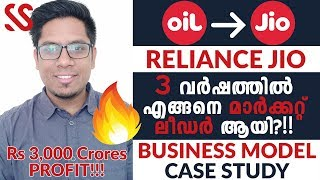 Market Leader in 3 Years!! How did Reliance Jio Do It? Jio Business Growth Case Study Malayalam